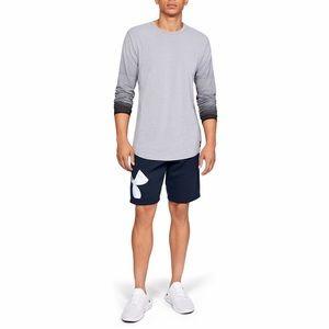 NWT Under Armour Men's Rival Fleece Logo Shorts L